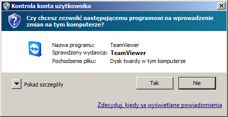TeamViewer Message